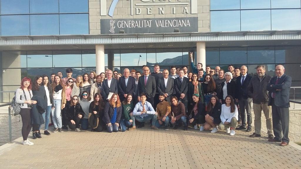 Alumnos que han realizado sus prácticas en Dénia
