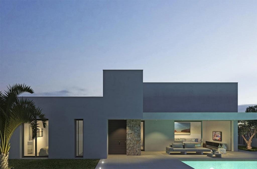 Façana i piscina MLS Dénia Immobiliàries