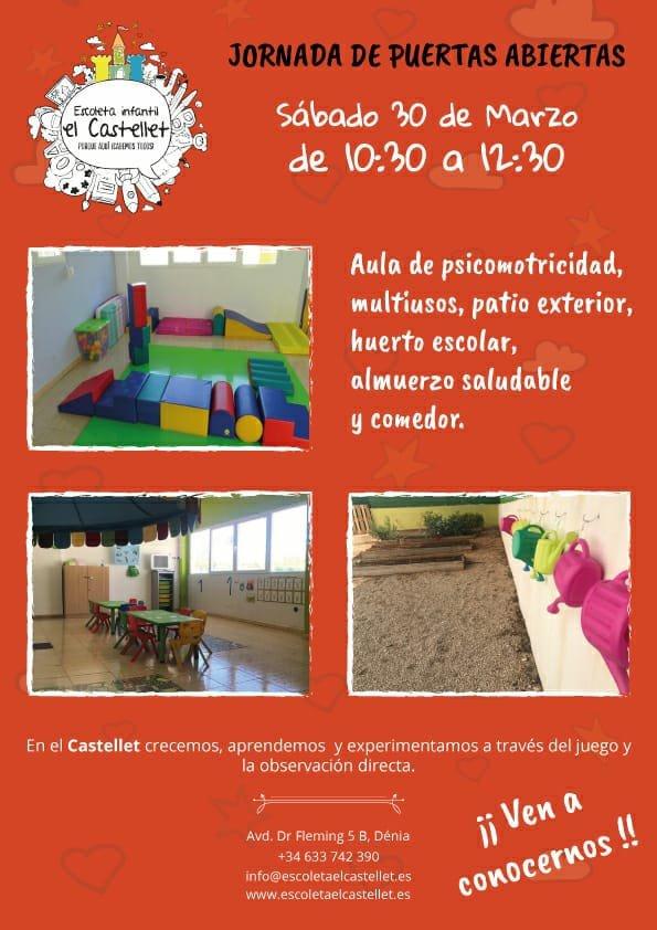 Jornada de puertas abiertas Escoleta El Castellet