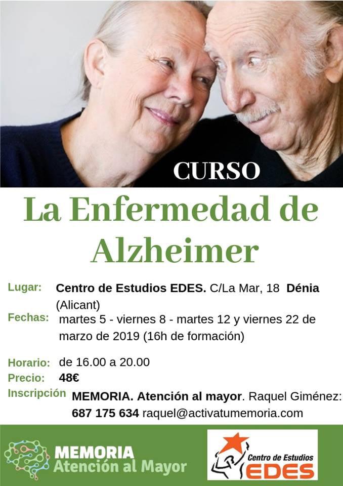 La malaltia de l'Alzheimer Curs a Dénia EDES Cento d'estudis