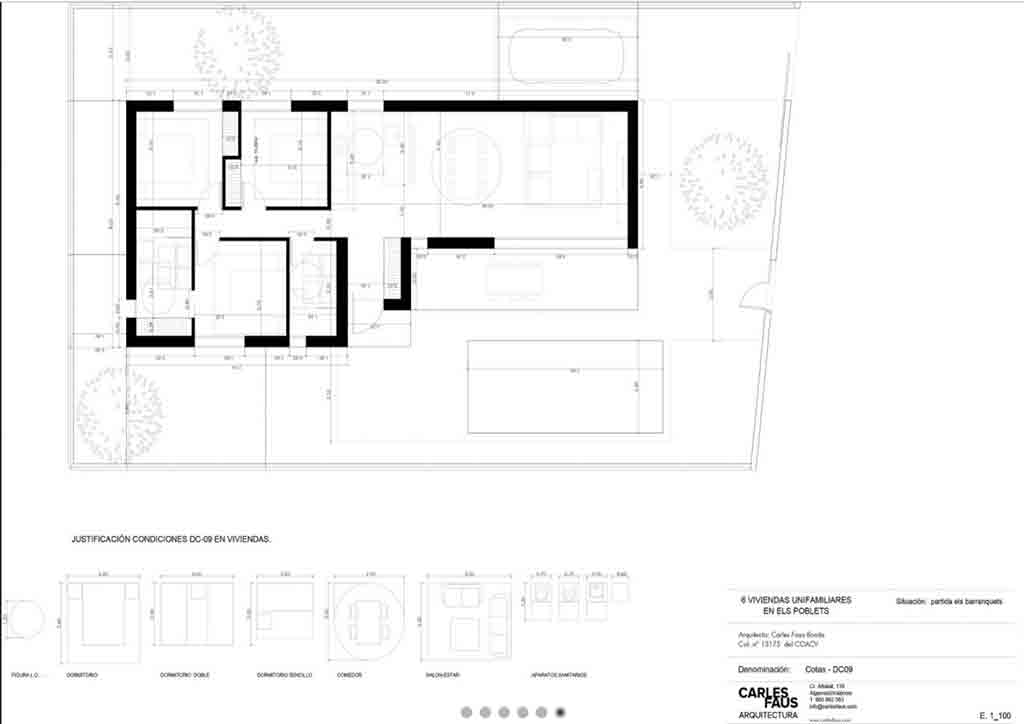 Plànols de l'habitatge Hugo MLS Dénia Immobiliàries
