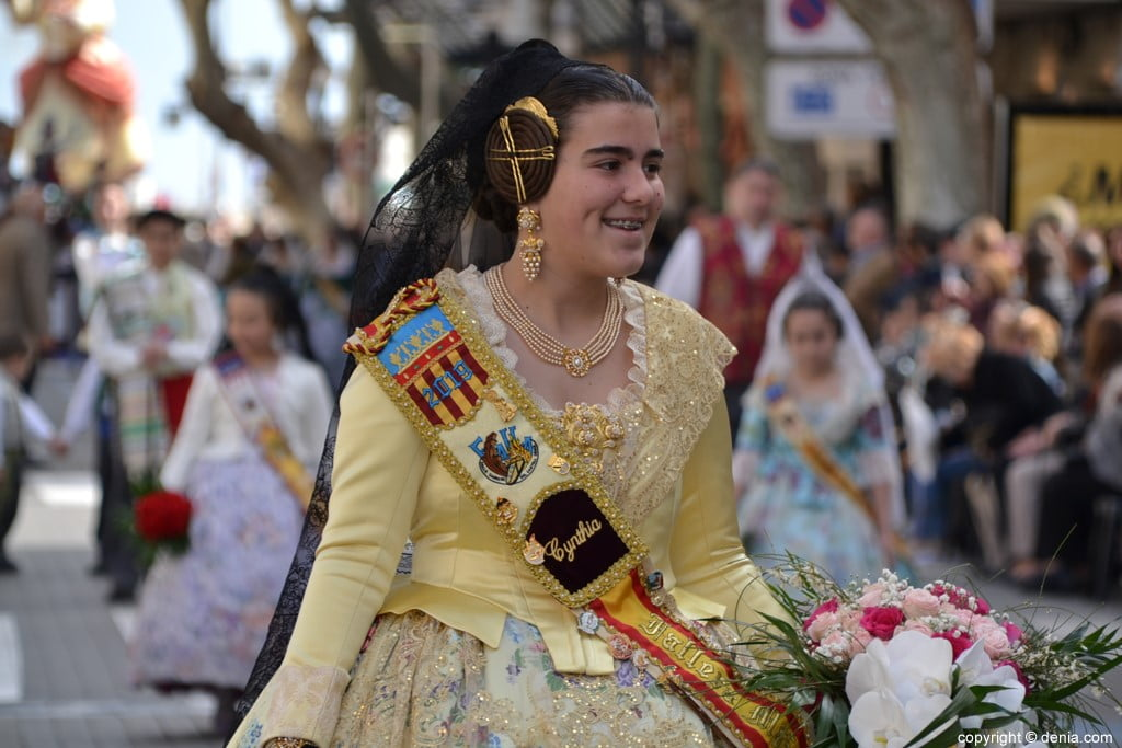 01 Ofrenda Fallas Dénia 2019 – Darrere del Castell