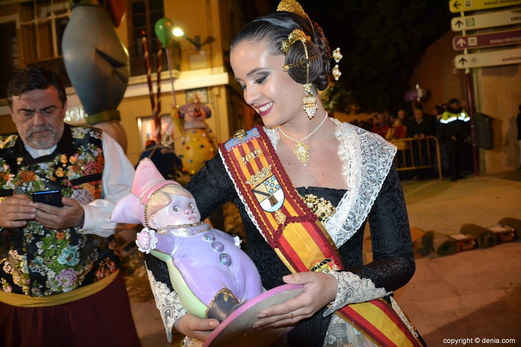 02 Cremà de la falla of the Local Board Fallera 2019 - Amparo with his ninot
