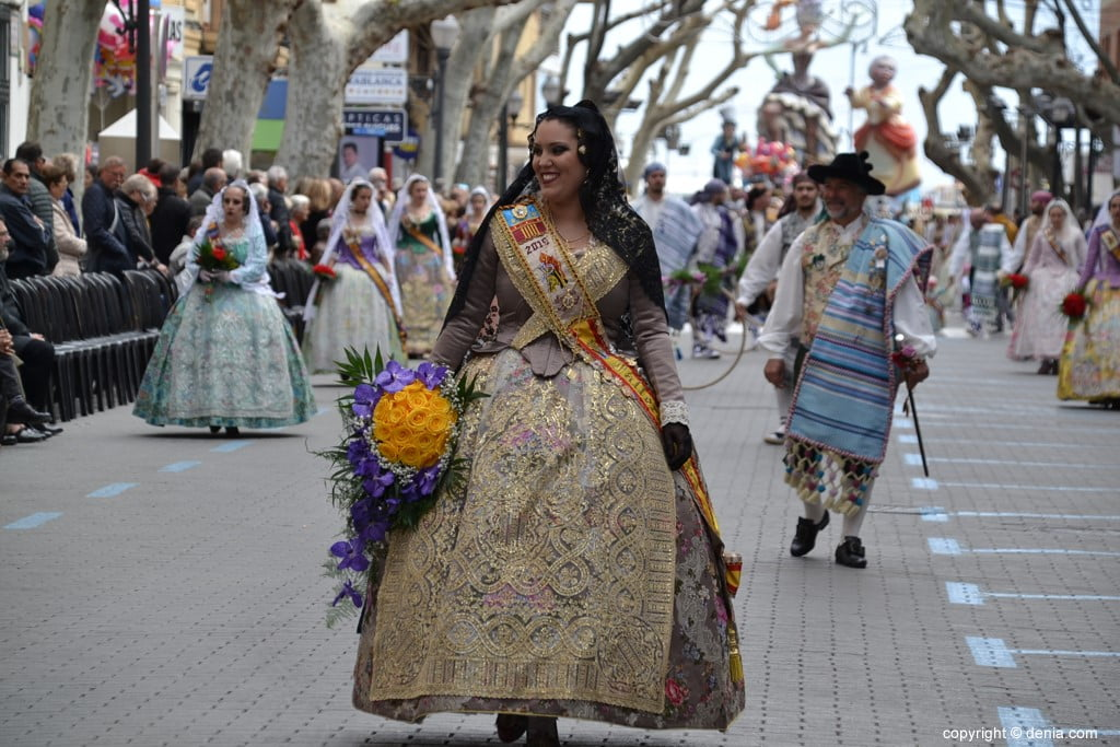 09 2019 Offering Dénia Fallas - Falla Campaments