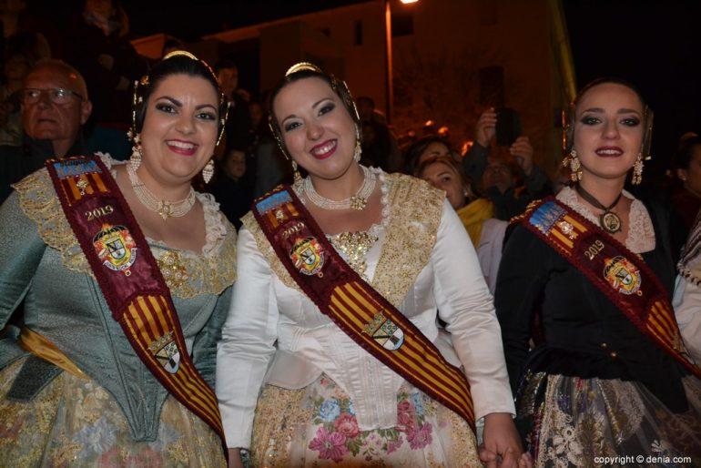 15 Cremà de la falla de la Junta Local Fallera 2019 - corte de honor
