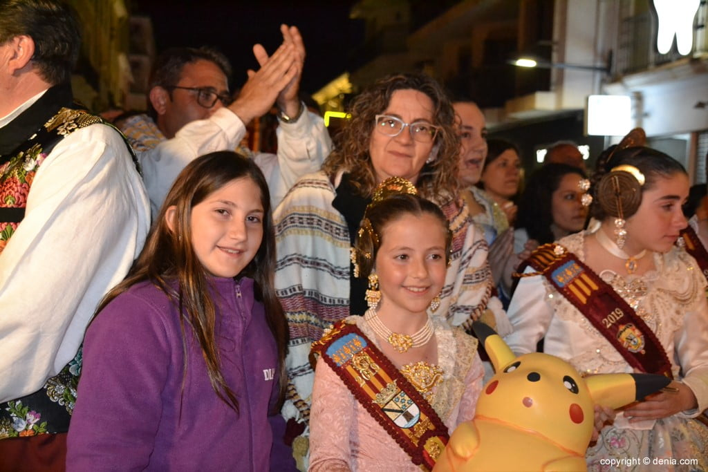 20 Cremà de la falla of the Local Board Fallera 2019 - Neus and his family
