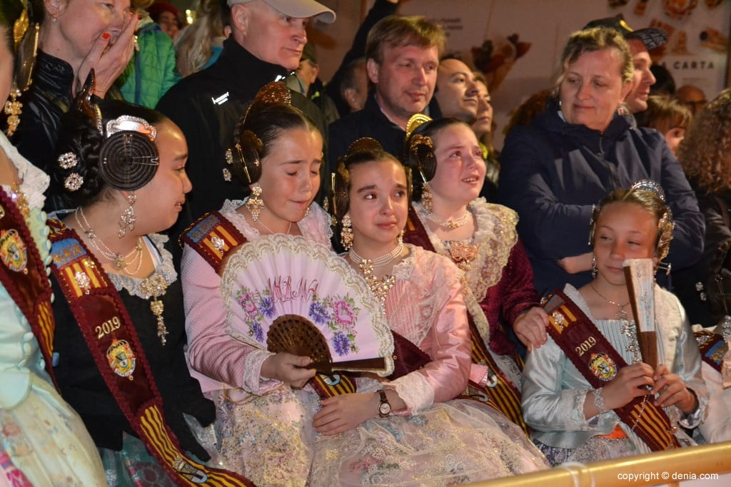 22 Cremà de la falla of the Local Board Fallera 2019 - Court of honor excited