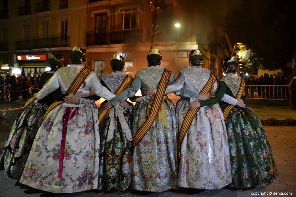 28 Cremà de la falla of the Local Board Fallera 2019 - Amparo and his court of honor