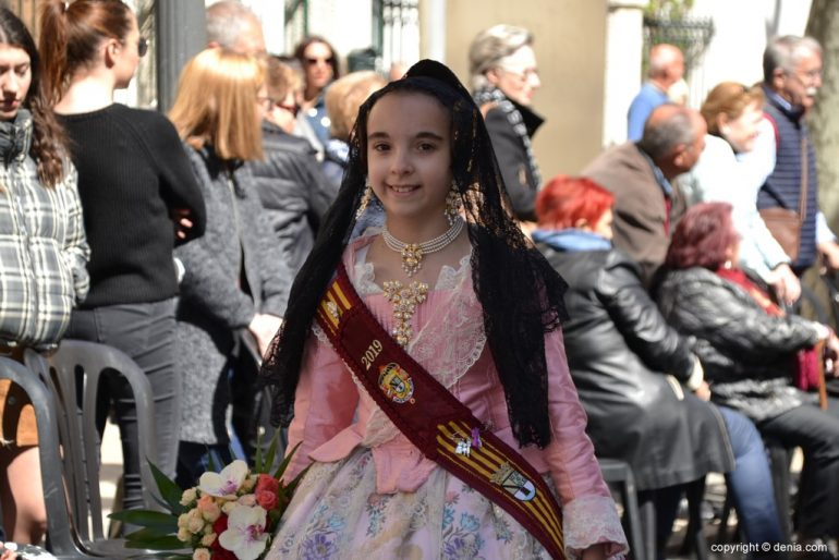 Ofrenda Fallas Dénia 2019 - Corte de honor infantil