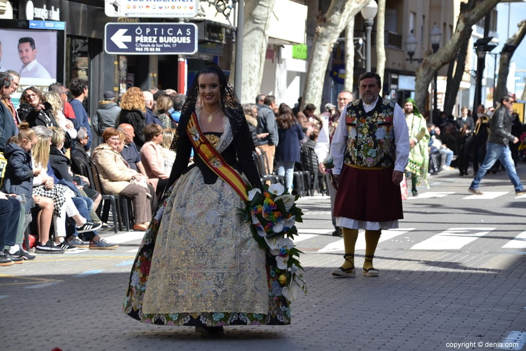 Offering Fallas Dénia 2019 - Fallera Mayor de Dénia
