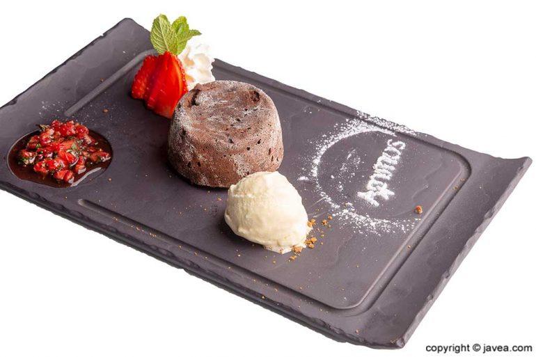 Brownie chocolate Restaurante Ammos