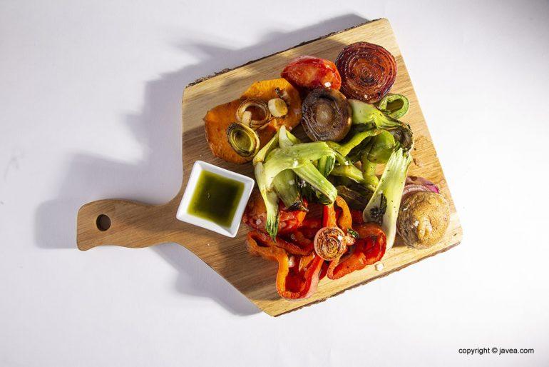 Plato de verduras - Restaurante Ammos
