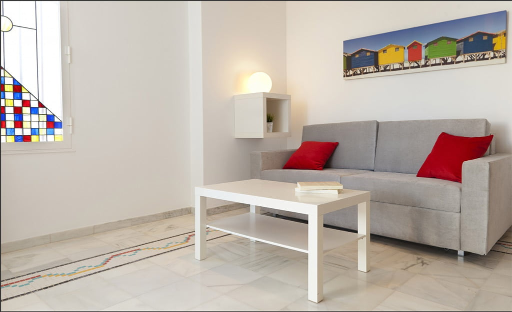 Sala d'estar de l'habitatge Deniasol