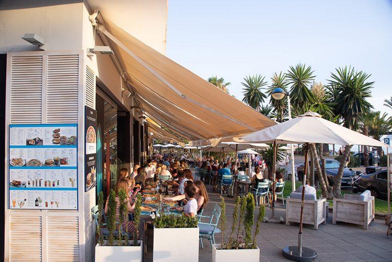 Terraza en Moraira - Restaurante Ammos
