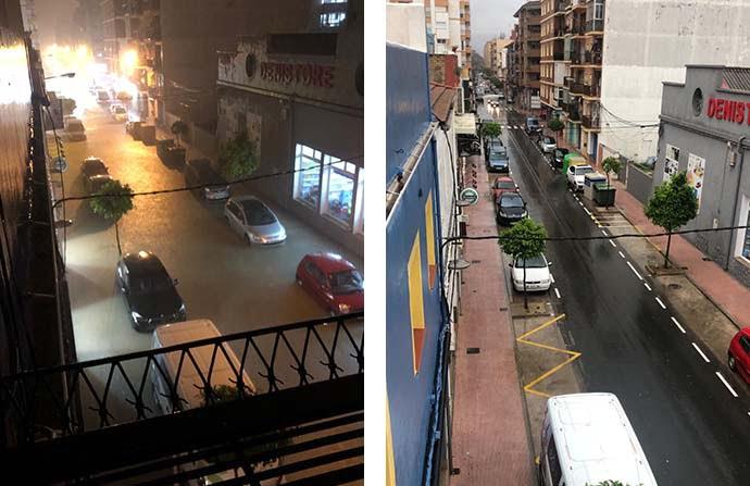 Antes y después de una calle de Dénia