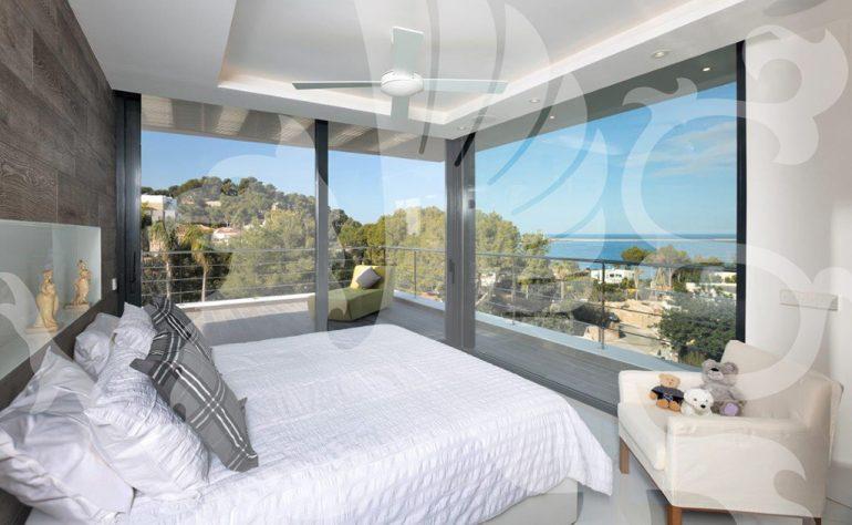 Camera da letto villa Stirling Ackroyd in Spagna