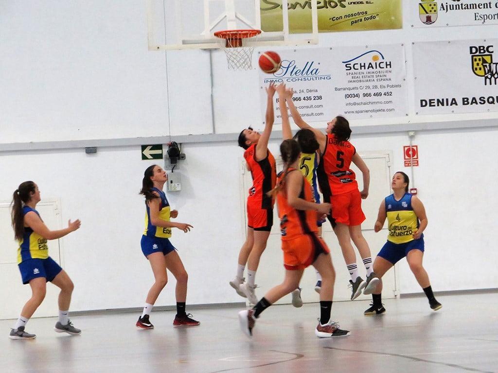 El Sènior femení del Dénia Bàsquet va perdre davant el València