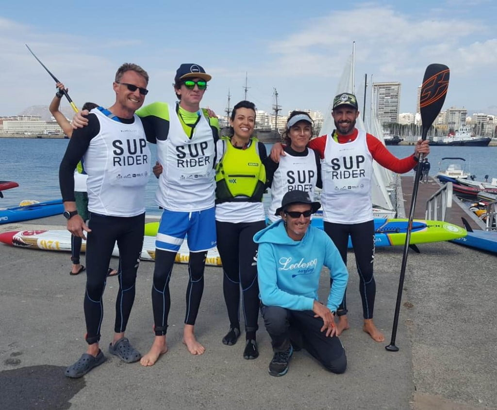 Leclerq SUP team in the Alicante test
