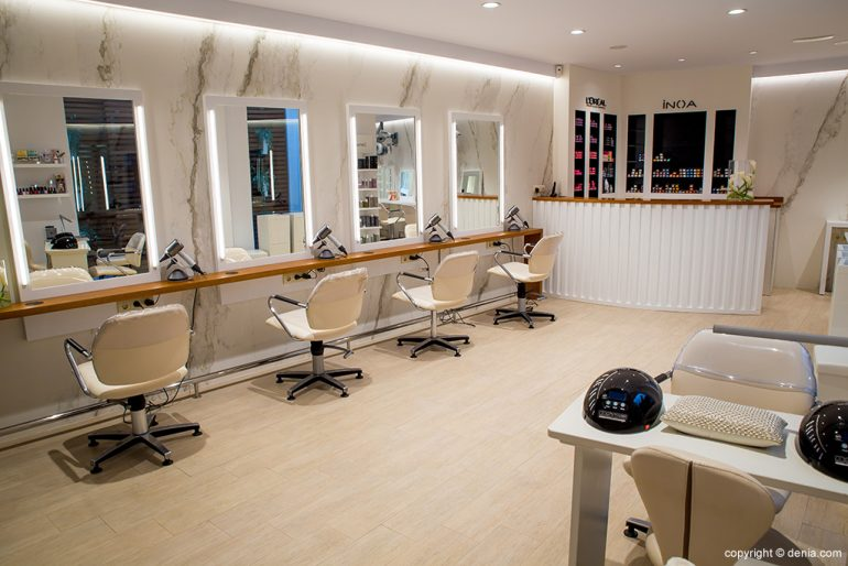 Interior peluquería Dénia - The Reference Studio