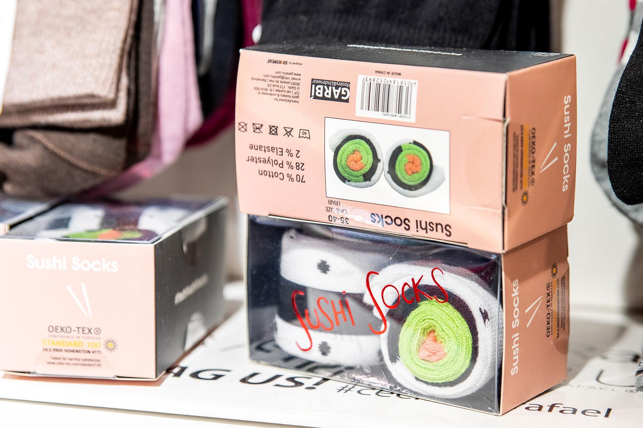 Sushi socks en Dénia – Leveleleven