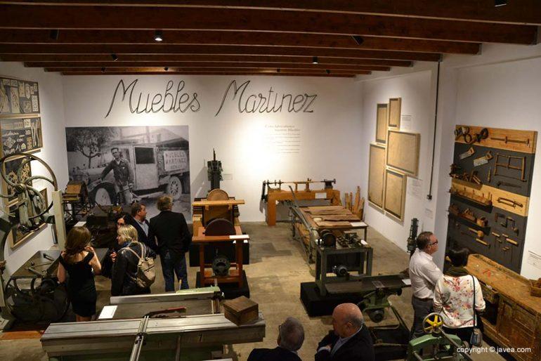 Intérieur du musée du meuble Martínez