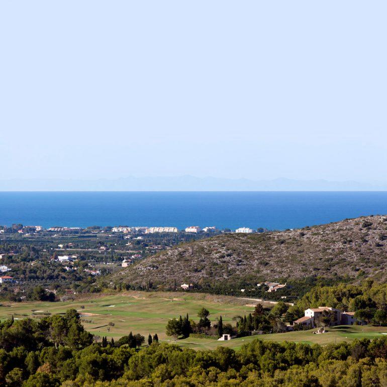 Vistas al mar desde La Sella Golf