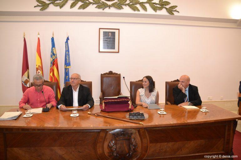 Samenstelling van de gemeenteraad van Denia - Oude tafel