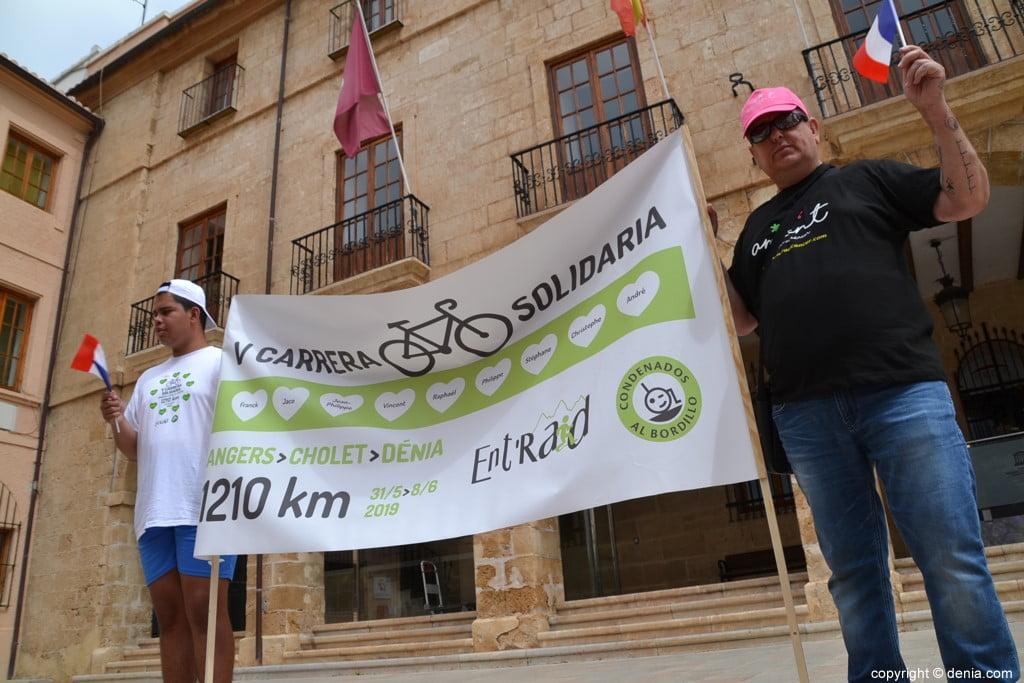 V Cursa Solidària Angers - Dénia - Pancarta