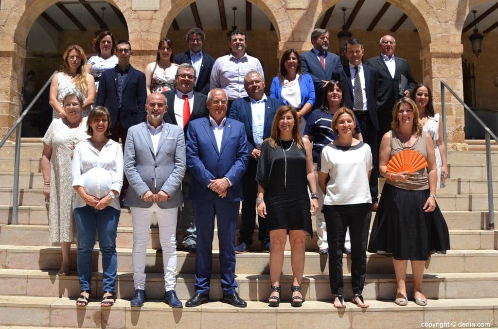 Raadsleden van de gemeentelijke corporatie van Dénia