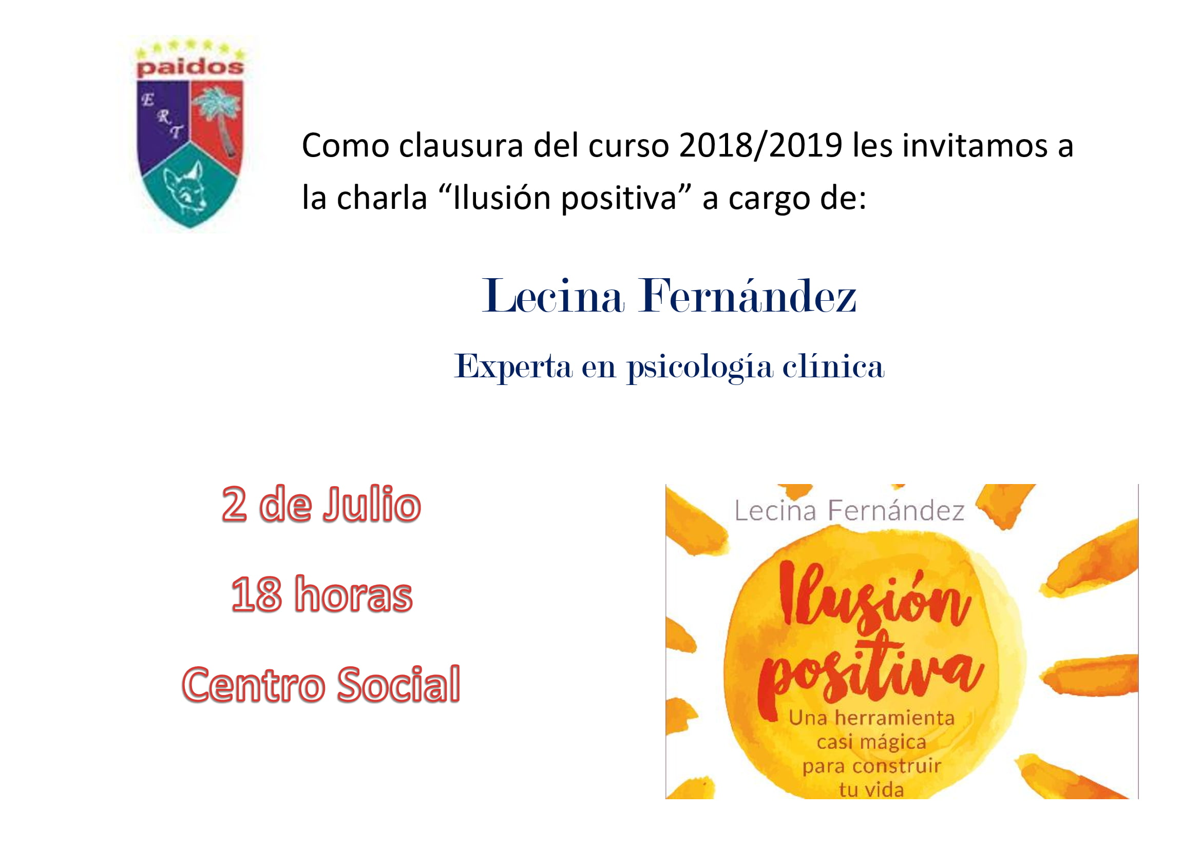 Школа Пейдос приводит Лечину Фернандес в Центр социального развития Дении