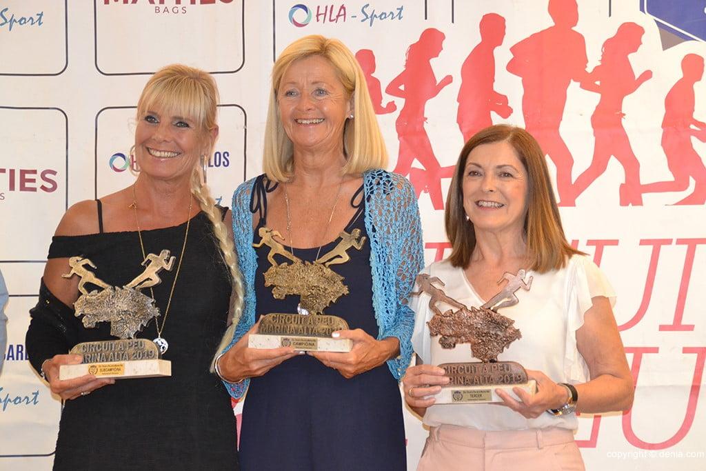 Jane Aromush, Andrea Johanesdottir i Gema Miñana