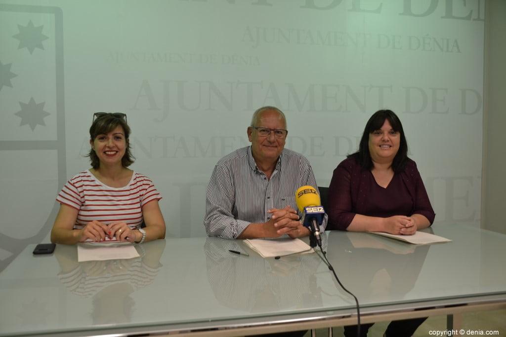 Maria Josep Ripoll, Vicent Grimalt e Cristina Morera