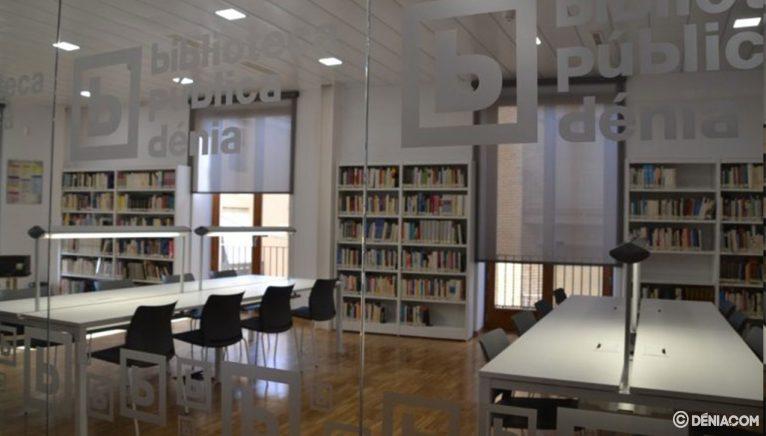 Sala de estudio en la Biblioteca Municipal de Dénia