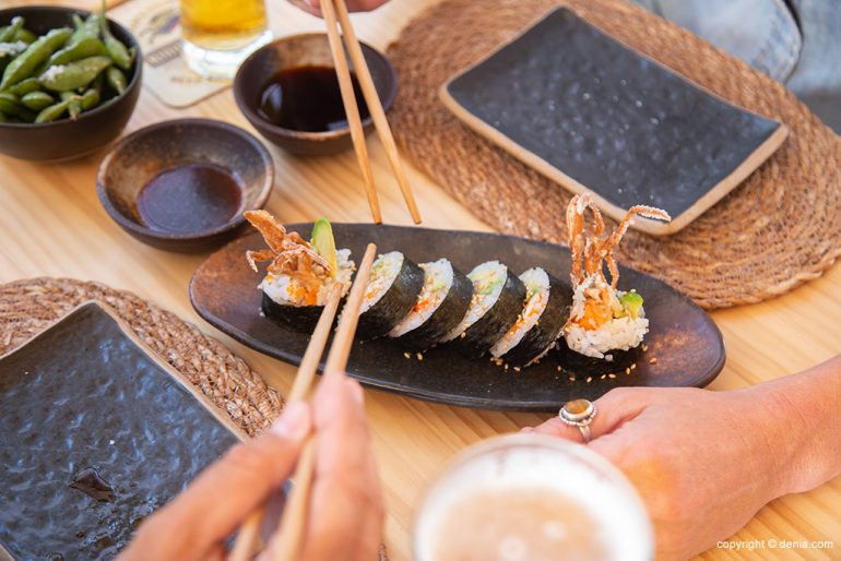 Comer sushi en Denia - Taberna Sushiber