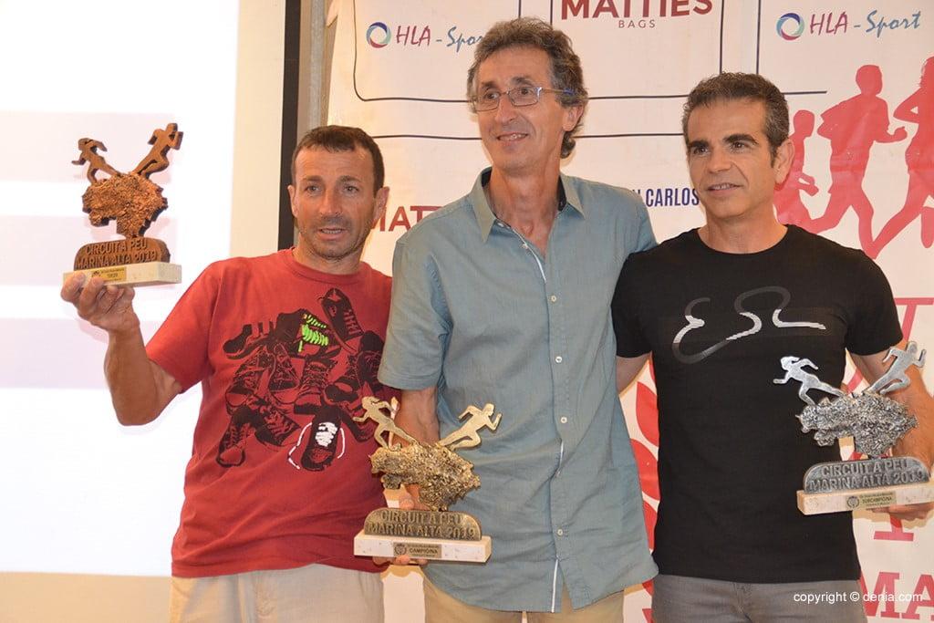 Víctor Fernández, José Enguix i Antonio Ortega.