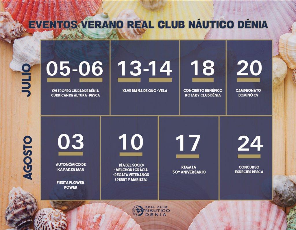 Calendario de eventos de verano Real Club Náutico