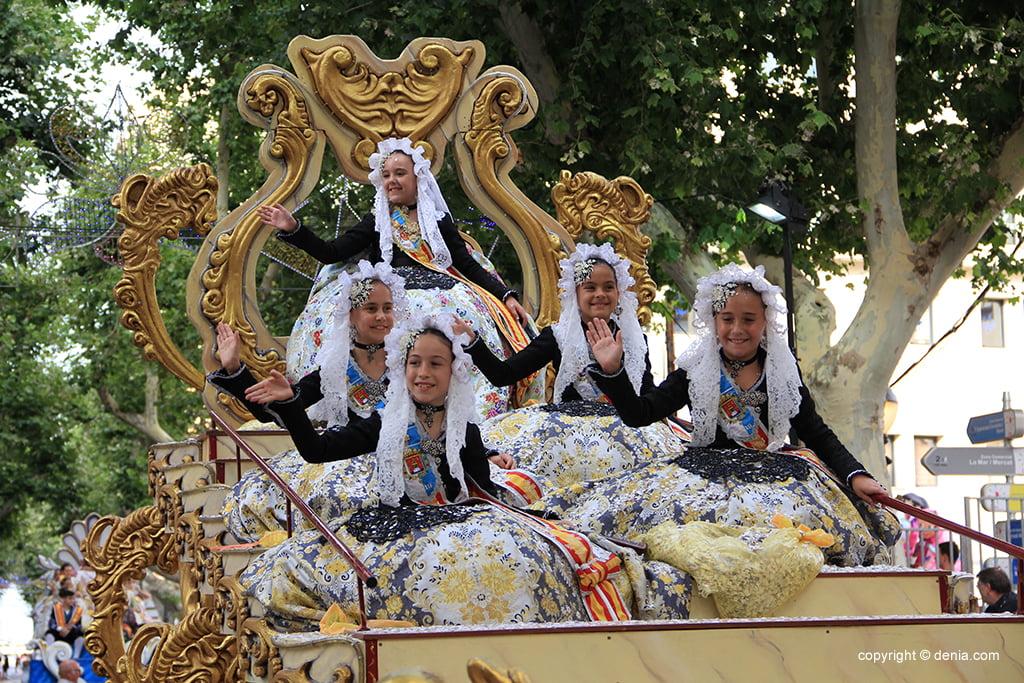 Carrosses Dénia 2019 - Bellea del Foc Infantil d'Alacant i cort d'honor