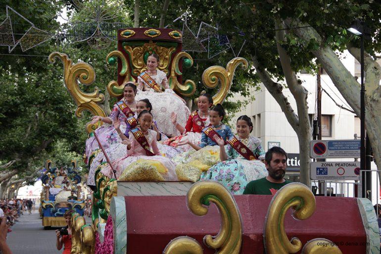 Carrosses Dénia 2019 - Fallera Major Infantil i Cort d'Honor Infantil