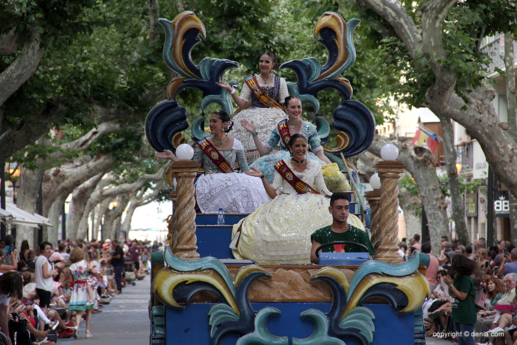 Floats Dénia 2019 - Fallera Major e Tribunal de Honra