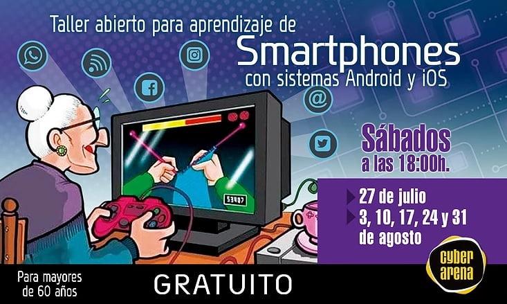 Curso gratis para aprender a usar el móvil para mayores de 60 - Cyber Arena