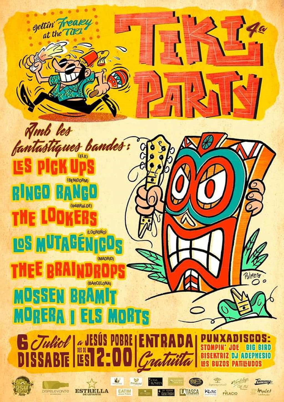 Cartell de la IV edició de la Tiki Party