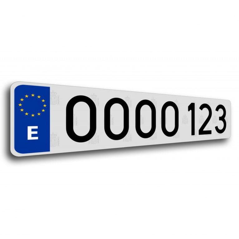 Paire de plaques d 39 immatriculation en m thacrylate qui - Immatriculation chambre des metiers ...