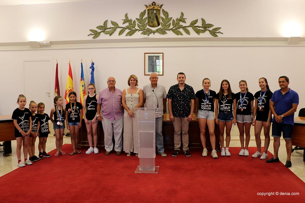 Recepción del Club Gimnàstica Dénia en el ayuntamiento