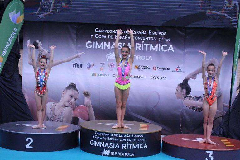 Sofía Cortí en el podio