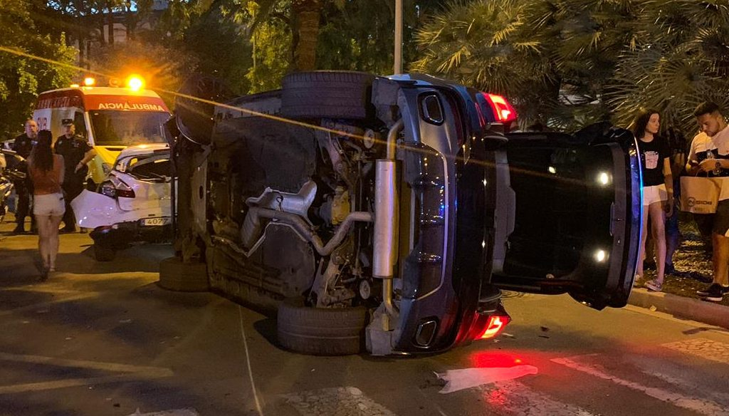 Accident de trànsit a Plaça París