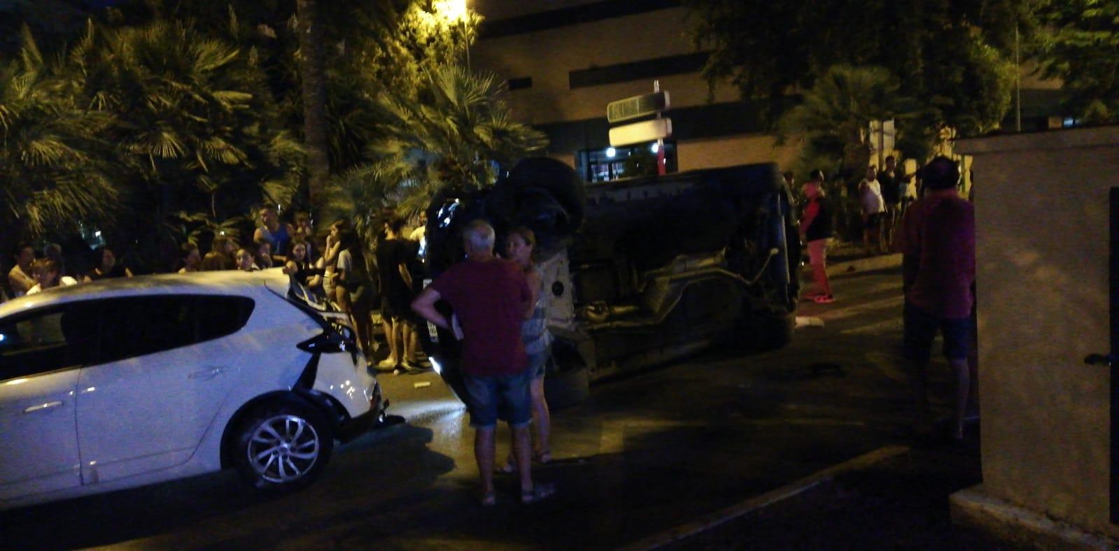 Accident davant de la Casa de la Cultura
