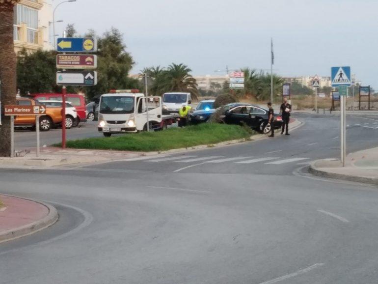 Accident enfront de Punta del Raset