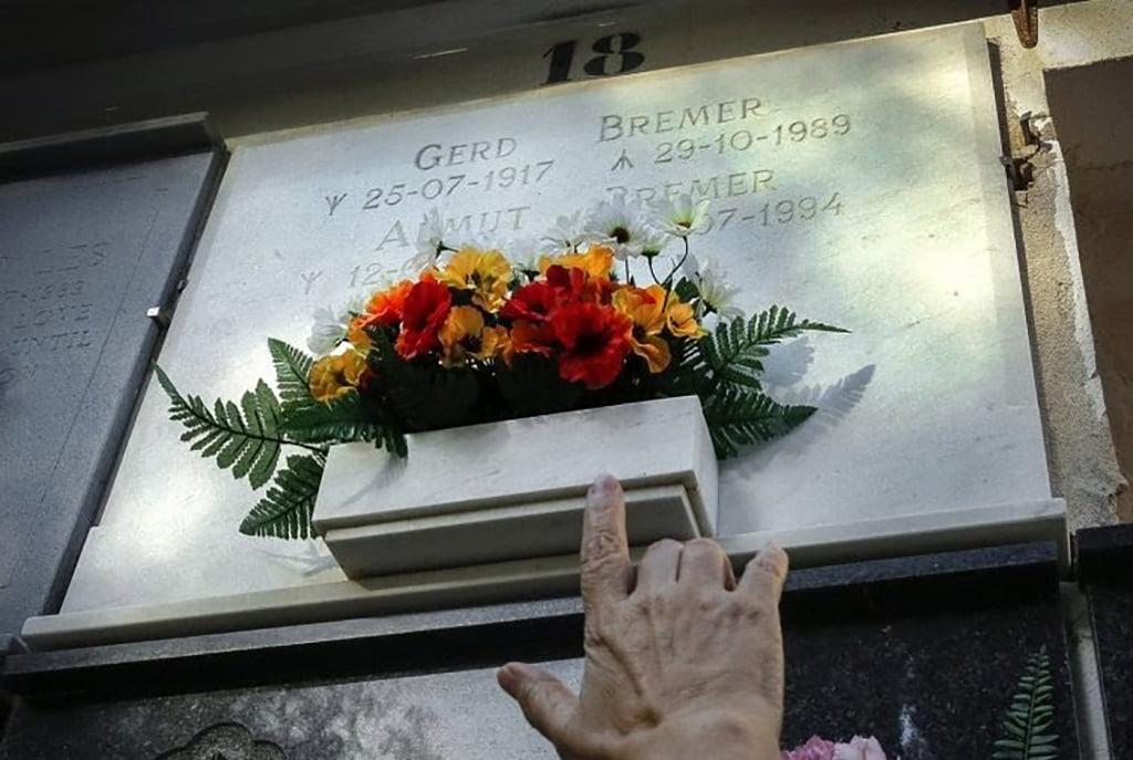 Làpida de Gerd Bremer al cementiri de Dénia