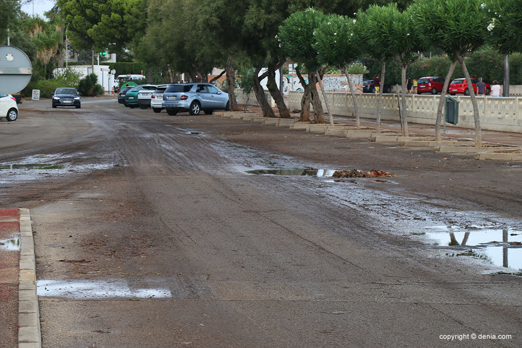 The consequences of rain and storm in Denia