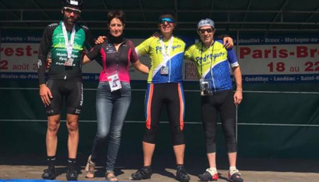 Los cuatro ciclistas comarcales en Francia